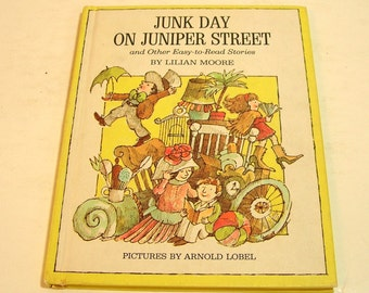 Junk Day On Juniper Street By Lilian Moore Vintage Childrens Book