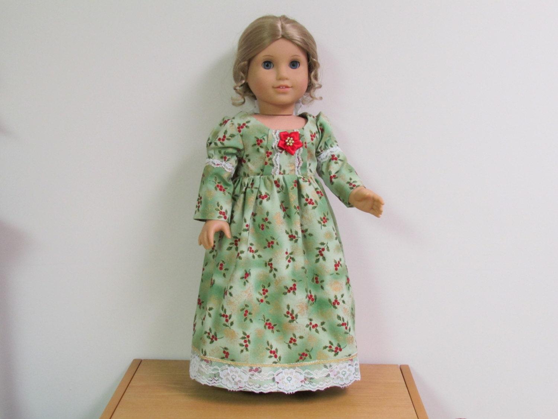 American girl doll caroline regency gown amp by donnacotterman