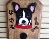 Boston Terrier Dog Leash Hanger