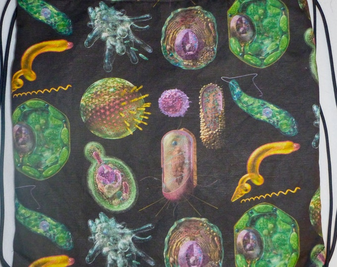 Biology must have: Cells Montage Cotton-Linen Canvas Backpack/tote Custom Print