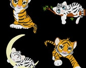 TIGER CUBS--- 13 Machine Embroidery Design Pack(AzEB)