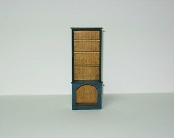 Miniature Cupboard Painted Blue - 1/12th scale