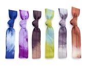 The Nebula Tie Dye Hair Tie Package - 6 Elastic Tie Dye Hair Ties that Double as Bohemian Chic Bracelets by Mane Message on Etsy