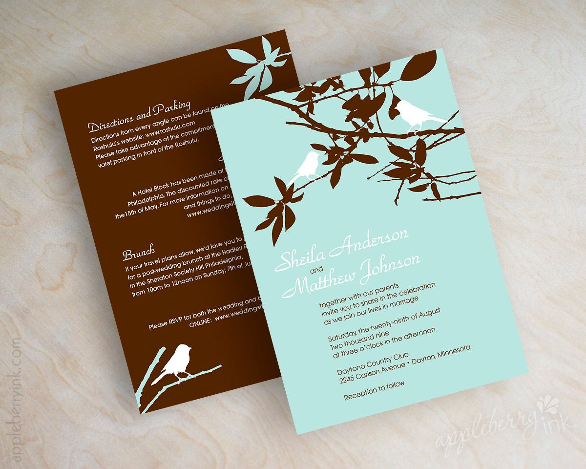 Bird Wedding Invitation