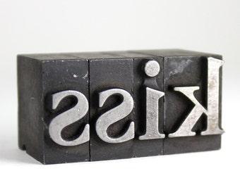 KISS - 60pt Vintage Metal Letterpress