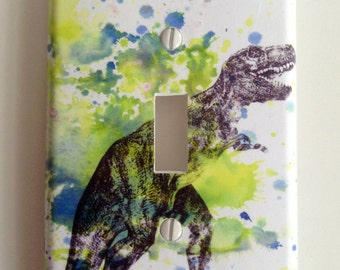 Tyrannosaurus Rex T-rex Dinosaur Decorative Light Switch Plate Cover Great for Children Kids Room Decor