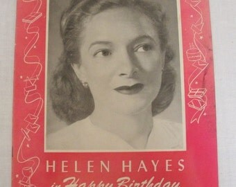 Vintage Helen Hayes in Happy Birthday Theater Program