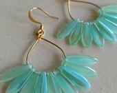 Beach Grass Gold (handmade beaded earrings)