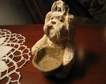 Vintage Shih Tzu Dog Figurine  Adorable Dog Collectible Figurine Looking for Treats