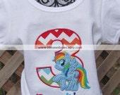 RUSH ORDER -My Little Pony - Rainbow Dash - Birthday Shirt