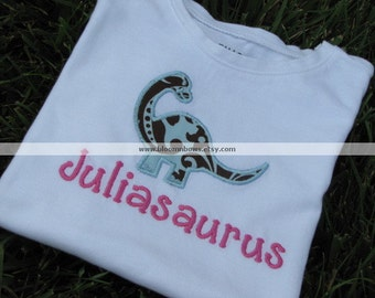 Personalized Dinosaur Shirt or Onesie