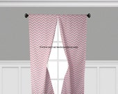 Pink Curtains Chevron Zig Zag Light Pink Curtain Panels Drapery Window Treatments Set Pair Pink Stripe Home Decor