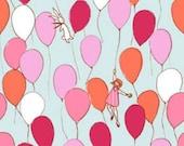 Sarah Jane Aqua Balloons  Cotton Fabric by Michael Miller DC5146-Aqua