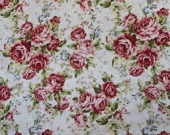 Kilala Elegant Roses KY201205 11D cotton Fabric by  QH Textiles Roses
