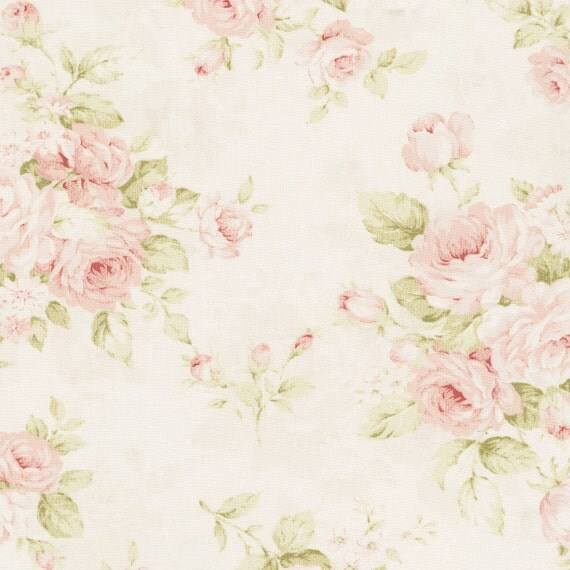 Rose OOP and Rare Cotton Fabric Roses on Cream MR1040-11B from ... : rose quilt fabric - Adamdwight.com