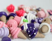 Pastel Polymer Clay Food Charms, Set of 20 Assorted Charms