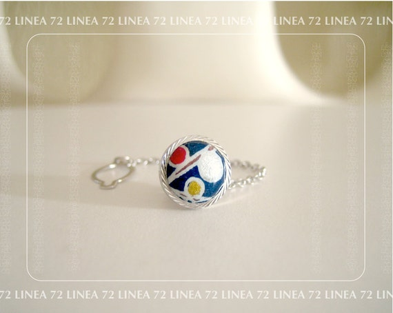 Modern Japanese Art Hand Painted Tie Tack