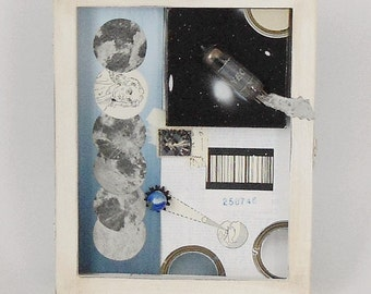 Assemblage Celestial Journey To The Moon / Joseph Cornell Tribute / Earth and Sky