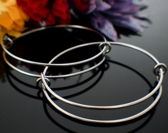 1 Bangle Base - Snag-less Stainless Steel - Nickel Free