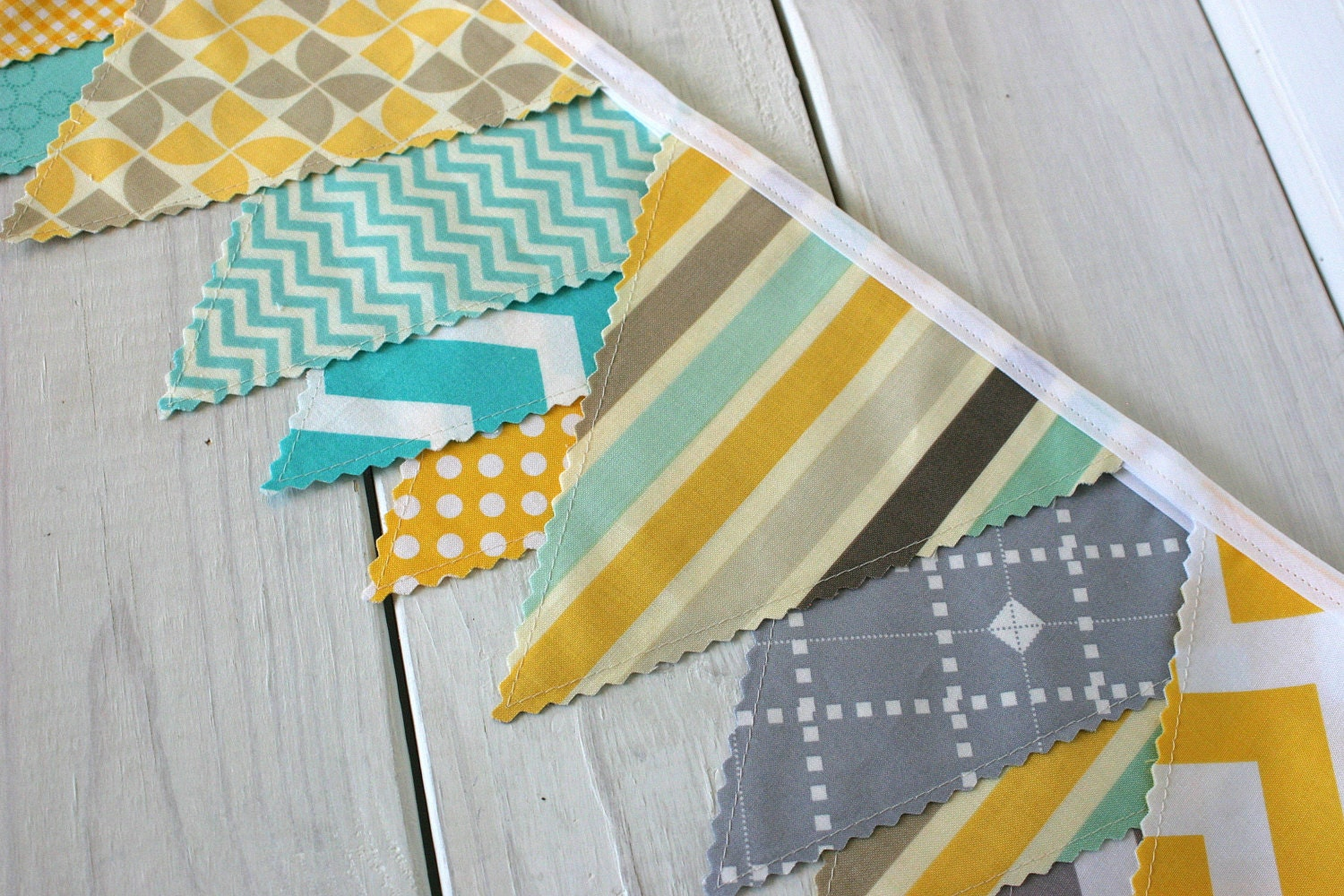 bunting fabric banner fabric flags baby nursery decor. Black Bedroom Furniture Sets. Home Design Ideas