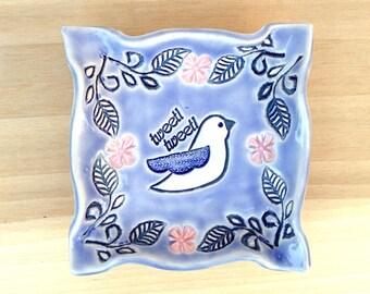 Birdie  Soap or Trinket Dish
