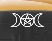 Triple Goddess Vinyl CAR DECAL Pagan Wiccan New Age Art