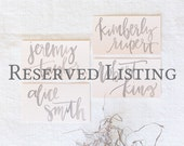 reserved for esther