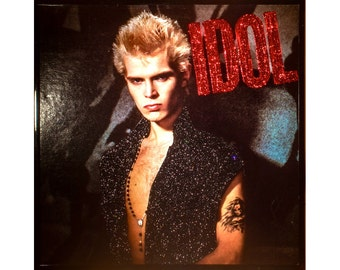 Glittered Vintage Billy Idol Album