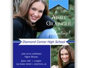 Digital File Print it Yourself Photo Graduation Invitation Announcement/you can change the colors/Aimee design