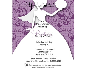 Bridal Shower Invitations/Wedding Shower Invitations/Bride to be Invitations/Couples Bridal Shower Invitations/set of 10-5x7 invitations