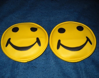 Off Road Light Covers Yellow Smiley Face