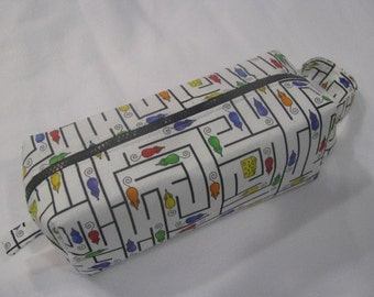 Mouse Maze - Surprise embroidery inside Cosmetic Bag Makeup Bag LARGE