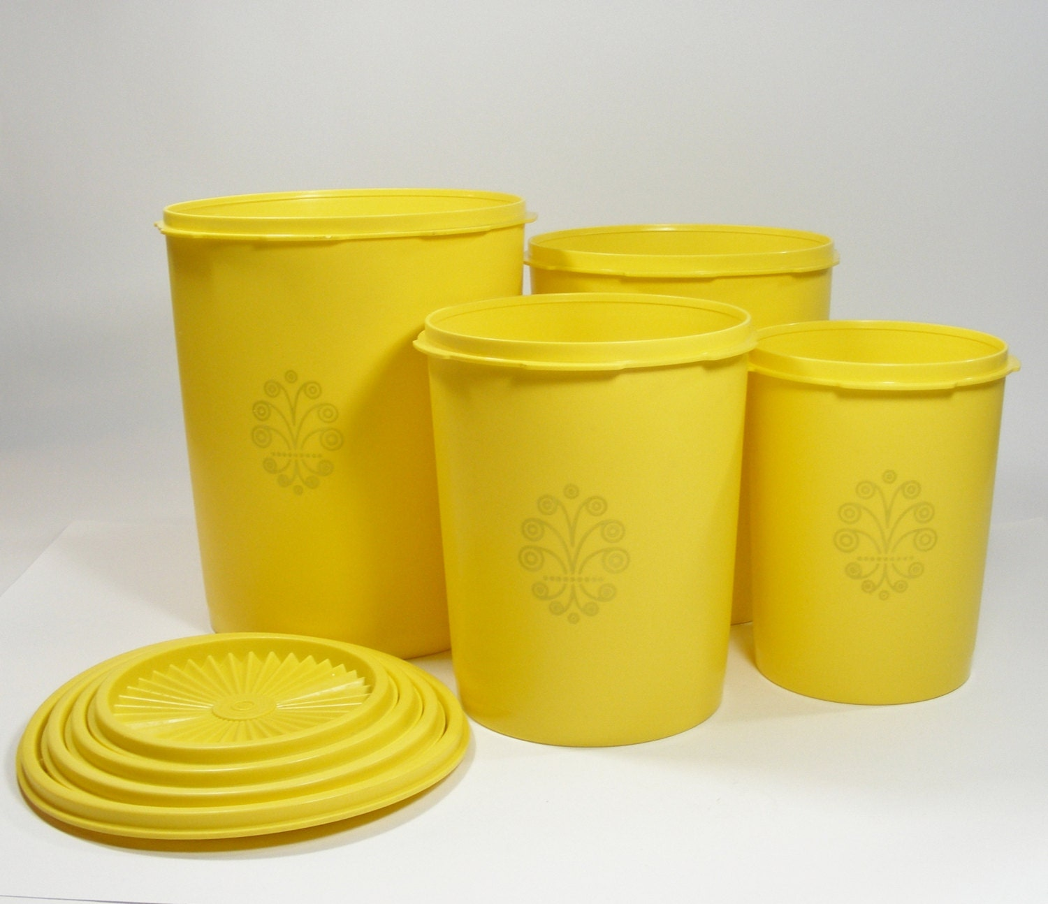 Yellow Tupperware Canister Set Of 4 Sunshine Yellow