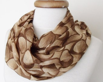 Brown Circle Desing Scarf Women Scarf Cotton Scarf-Ready For Shipping