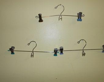 Metal Skirt / Pants Hanger Re-purposed Wall display Photo Hangers