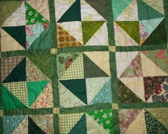 Queen Size quilt Full size quilt  Green 37