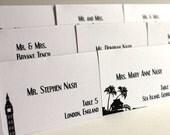 World Travel Place Cards Handmade Custom Personalize Globe Trotter Wedding Signage Escort