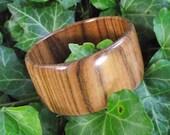 Wide Wood Bangle Bracelet - Wooden Bangle Bracelet (Size M) - Natural Jewelry Gift