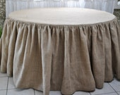 Burlap Round Tablecloth