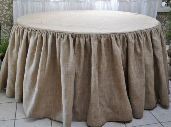 Burlap Round Tablecloth By Paulaanderika On Etsy