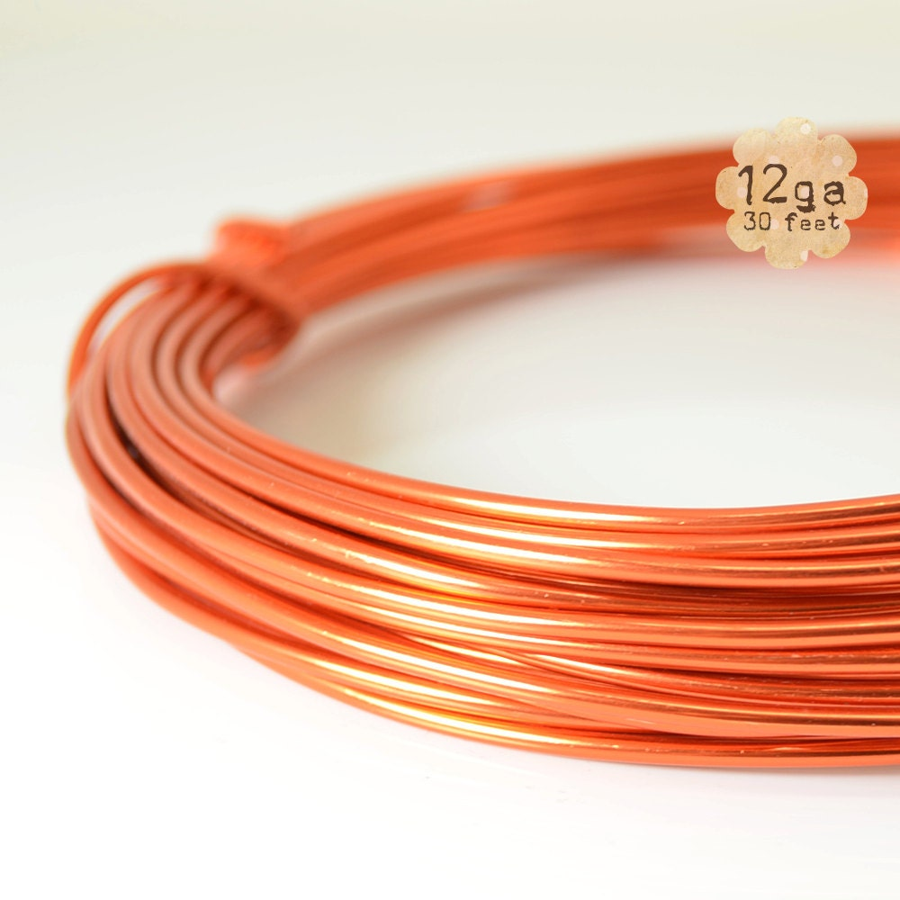 30ft 12ga aluminum craft wire 12 gauge by plumulefeathers