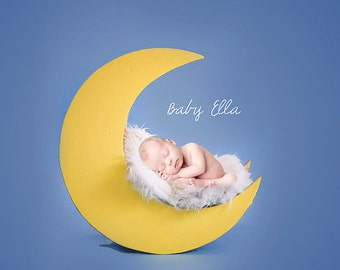 Newborn Baby Child Photography Prop Digital Backdrop for Photographers Love you to the Moon