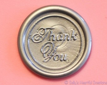 Thank You  Peel and Stick Faux wax Seals