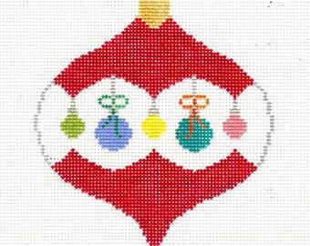 Christmas Balls Needlepoint Ornament