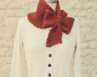 Bow Tie Ascot PDF Knitting Pattern Instant Download