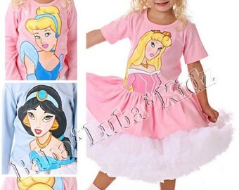 Hand Painted Princess dress handpainted size 6 12 18 24 2 3 4 5 6 ETSYKIDS Boutique custom