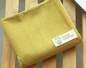 Lovely white dots printed on Mustard Cotton, U7217