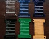 Keychain WPI tool - Assorted Wood and Acrylic