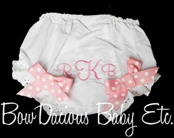 Monogrammed Bloomers, Birthday Bloomers, Fancy Pants, Totally Custom, Sizes Newborn up to 4t
