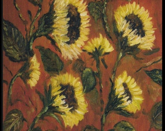 Sunflowers I -  Original Floral Oil painting